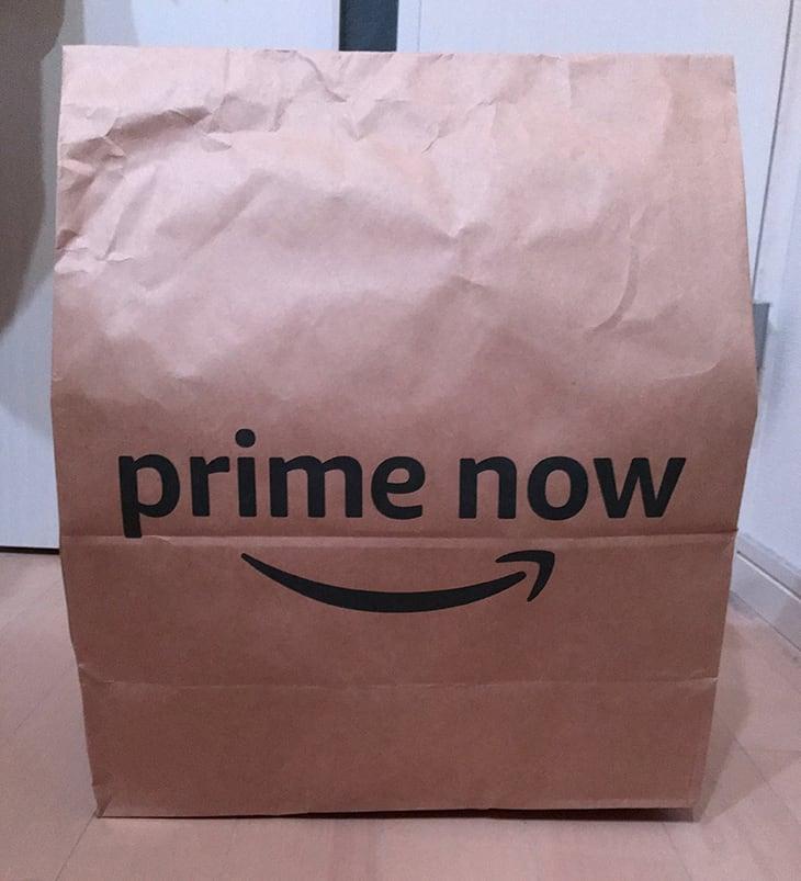 Prime Nowの袋