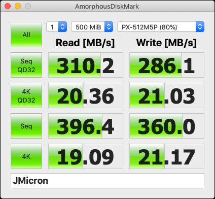 SATA SSDのベンチ結果